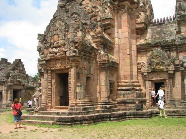 Closeup of a Khmer Temple, Phanom Rung Historical Park, Isan, Thailand.