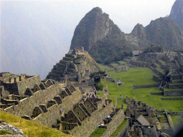 View of The Lost City of the Incas, Machu Picchu, Peru