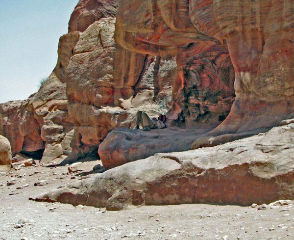 Afternoon siesta in the Jordanian desert. Photo by Margaret Deefholts