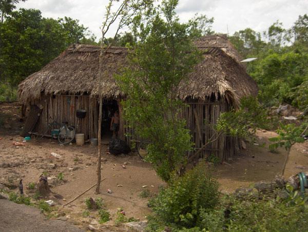 A Mayan home in the Northern Yucatan Peninsula, Mexico