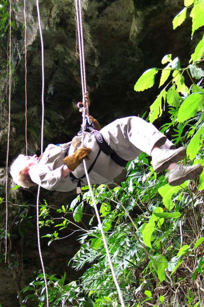 Maxine Zip Lining on Mayan Adventrure Yucutan Peninsula
